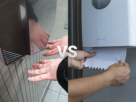 Hand dryers vs paper towels