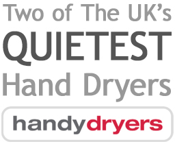 Two of The UK's quietest hand dryers